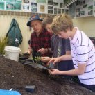 Jim with Hautapu students.  Sept. 2008. Cambridge Tree Trust